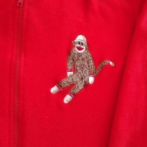 Sock monkey onesie adult size XXL